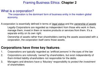 Framing Business Ethics: Chapter 2