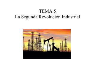 TEMA 5 La Segunda Revoluci�n Industrial