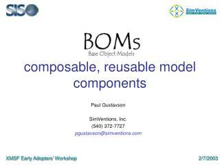 composable, reusable model components