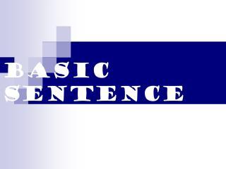 Basic Sentence