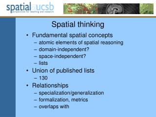 Spatial thinking