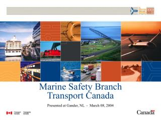 Marine Safety Branch Transport Canada