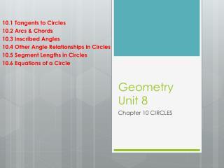 Geometry Unit 8