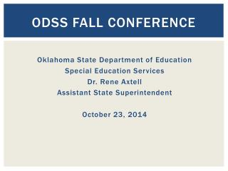 ODSS Fall Conference