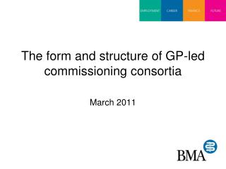 The form and structure of GP-led commissioning consortia