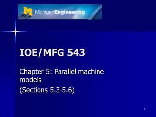 IOE/MFG 543