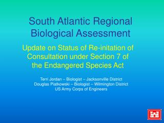 South Atlantic Regional Biological Assessment