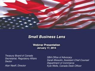 Small Business Lens Webinar Presentation January 17, 2014