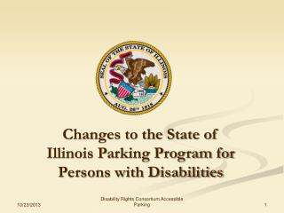 Changes to the State of Illinois Parking Program for Persons with Disabilities