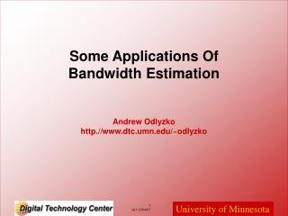 Andrew Odlyzko http.//dtc.umn/~odlyzko