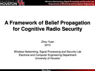 A Framework of Belief Propagation for Cognitive Radio Security
