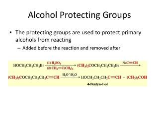Alcohol Protecting Groups