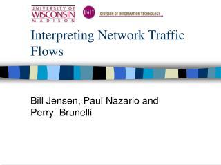 Interpreting Network Traffic Flows