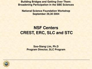 Overview of NSF Centers