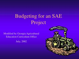 Budgeting for an SAE Project