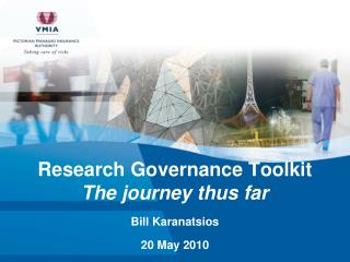 Research Governance Toolkit The journey thus far