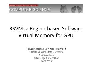 RSVM: a Region-based Software Virtual Memory for GPU