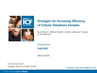 Strategies for Increasing Efficiency of Cellular Telephone Samples