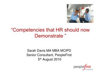 """Competencies that HR should now Demonstrate """