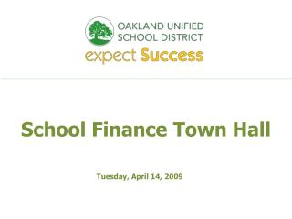 School Finance Town Hall