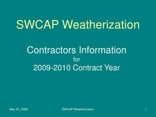 SWCAP Weatherization