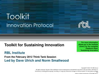 Toolkit Innovation Protocol
