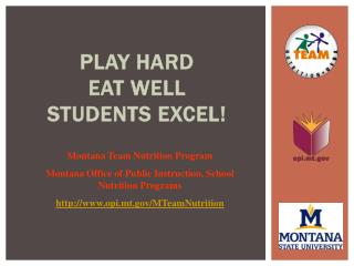 Play Hard Eat Well  Students Excel!