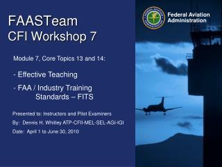 FAASTeam   CFI Workshop 7