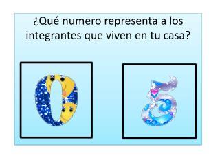 ¿Qué numero representa a los integrantes que viven en tu casa?