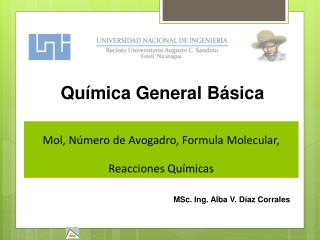 Mol, Número de Avogadro, Formula Molecular,  Reacciones Químicas