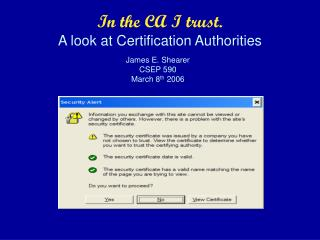 In the CA I trust. A look at Certification Authorities