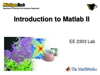 Introduction to Matlab II