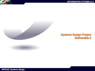 Systems Design Project Deliverable 2