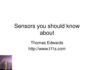 Sensors you should know about