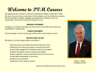 Welcome to PVM Careers