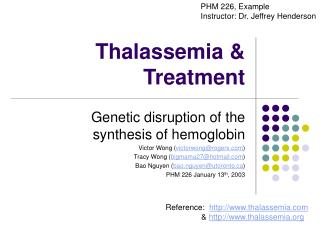 Thalassemia & Treatment