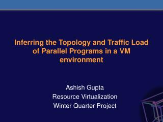 Inferring the Topology and Traffic Load of Parallel Programs in a VM environment