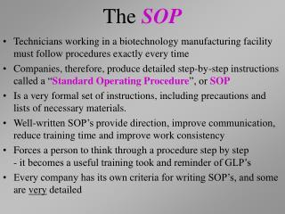 The  SOP
