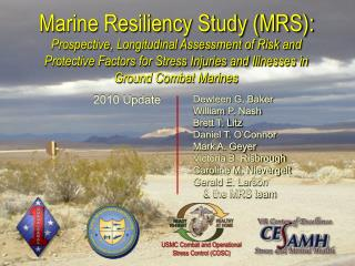 Marine Resiliency Study (MRS):