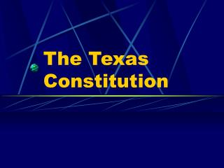 The Texas Constitution