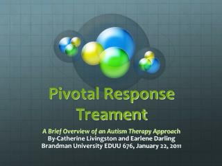 Pivotal Response Treament