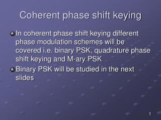 Coherent phase shift keying
