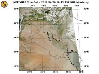 Dust event VIIRS truecolor April18 20