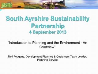Sustainable Development  Planning Controls