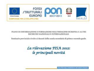 PISA 2012: alcune informazioni