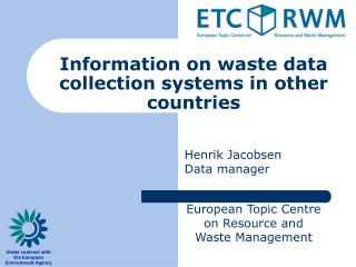 Information on waste data collection systems in other countries