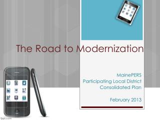 The Road to Modernization