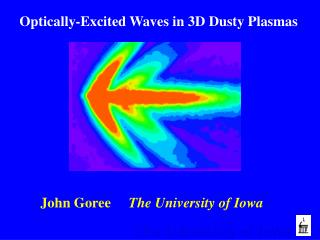 Optically-Excited Waves in 3D Dusty Plasmas