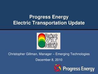 Progress Energy Electric Transportation Update
