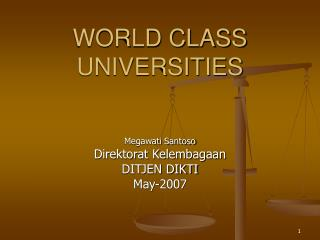 WORLD CLASS UNIVERSITIES